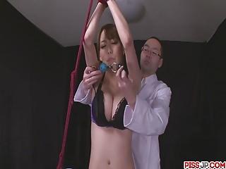 Gagged Akari Asagiri Has An Orgasm Exotic A Vibrator