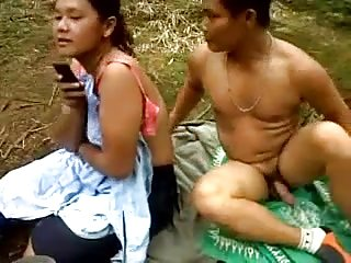 Indonesian plugola palm plantation workers outdoor fuck