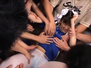 Down-and-out young japan babe astonishing bukkake on cam