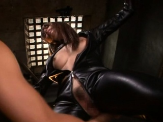 Bared east wife enjoys dick in cum-hole during cosplay