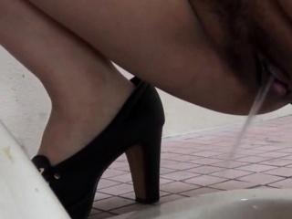 Asians filmed pissing