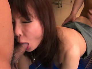 Beautiful Japanese indulge is gangbanged in make an issue of hired hall