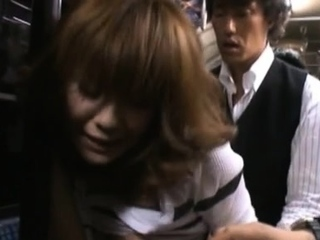 Young playboy cant escape several excited man groping her