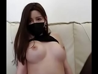 Korean BJ Nice Tit show congregation on cam !