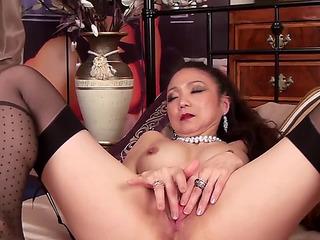 Oriental alternative other in her 40s goes solo fearsomefearsome PornDoe
