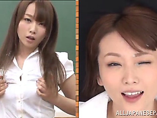 Hawt japanese teacher ends up bukkaked