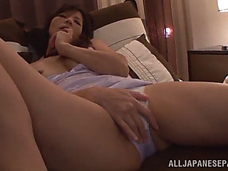 Oriental mother i'd like to fuck fingers her soaked love tunnel in unparalleled scene