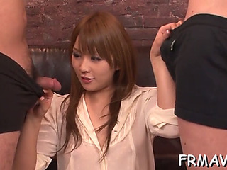 Mindblowing japanese 3some