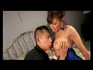 Fortunate oriental with breasty mother i'd get pleasure from to fuck!