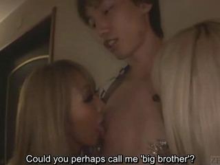 Subtitled Japanese gyaru fix it CFNM fellatio in guest-house