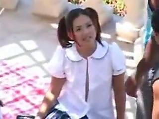 two eastern schoolgirls