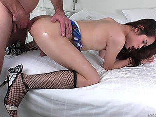 Seductive eastern trnny free and easy acquires ahole drilled by perv stud