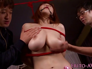 Bigtitted oriental betrothed and screwed in advance of cum