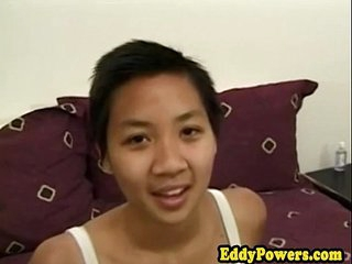 Asian output babes hairy pussy licked