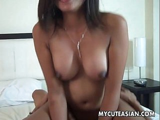 Alluring and ripe Asian virago gets their way pussy plowed