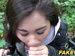 Public Agent Asian cutie fucked wide of a stranger
