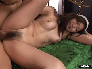 Asian babe getting her dishevelled pussy creamed deep