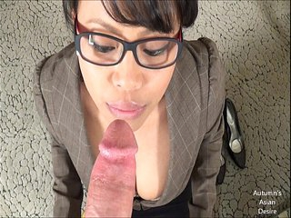 Autumn's Asian Desire:  New Client Blowjob