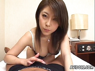 Asian handjob with a nick of a titty be hung up on