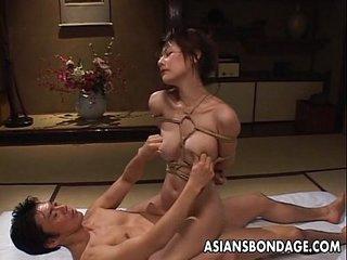 Tempting Asian cosset in subjection gets screwed hard