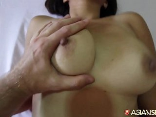 Asian Sex Diary - MILF meets up with ashen vacationer apropos get fucked