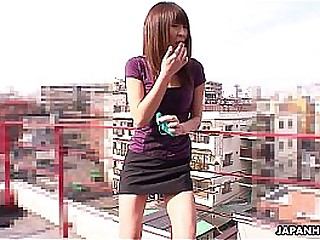 Asian cuttie the night getting toy fucked by herself