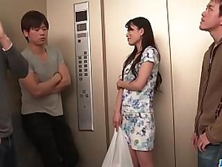 Hot japan girl Nana Nakamura in group sex scene