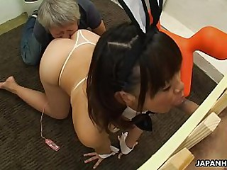 Asian pet girl is captive and manufactured to suck cocks