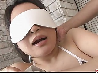 Graceful japanese porn babe in arms with big tits in bikini fondled and toyed