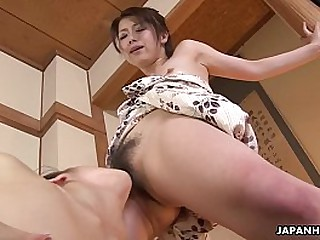 Lesbo Asian sluts getting pussy crazy with each understudy