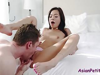 Teen Asian Fucks Will not hear of Mighty American Daddy- Vina Sky