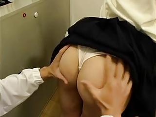 CFNM Ass-job and  Handjob Movie  (asian censored)