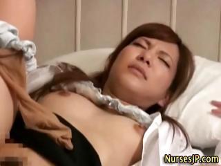 Japanese asian nurse blowjob and hard fuck