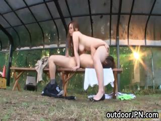 Ai Sayama Japanese indulge has outdoor sex part3