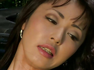 Small Asian Squirts Outdoors