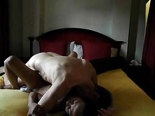 philippines milf on touching white venerable man
