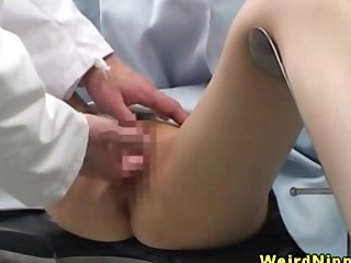 Petite asian chicks fingered by doctor