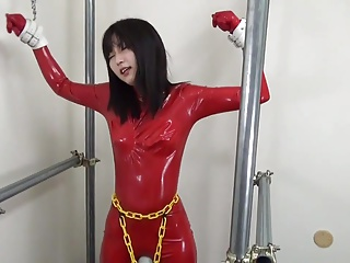 Japanese latex catsuit