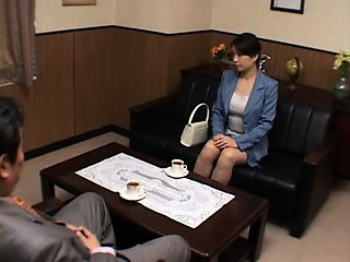 Attractive Japanese babe with a immortal ass bounces on a s